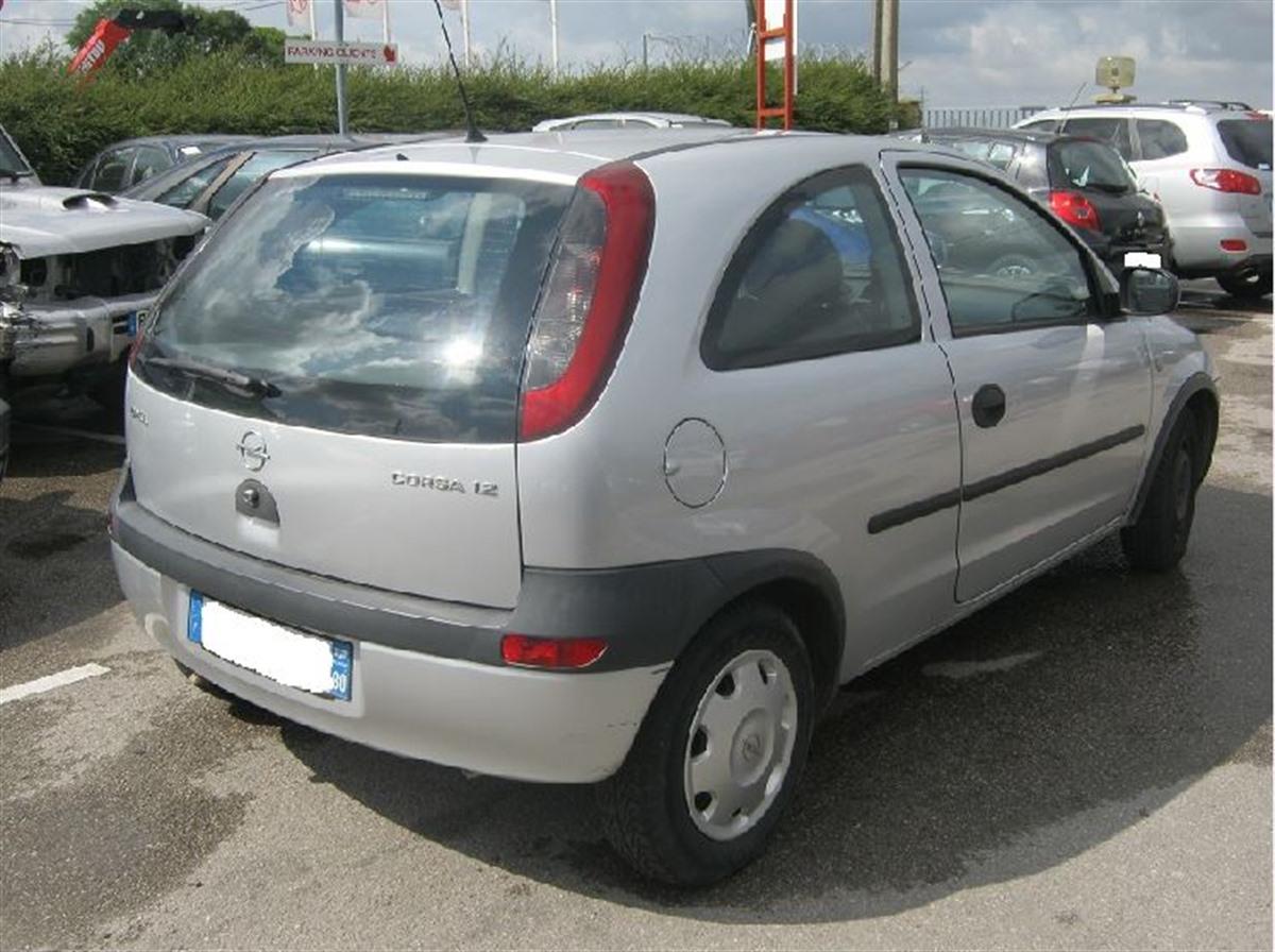 Pare choc arrière gris Foncé Opel Corsa C Année de construction 08.00-10.03 en plastique ABS qpk